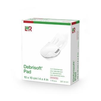 Debrisoft Pad sterile, 10x10cm, 5 pieces 10cm x 10cm